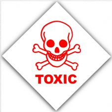 1 x Toxic-Health and Safety Self Adhesive Vinyl Sticker-Warning Danger Hazard Symbol Sign